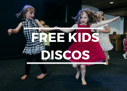 Free Kids Discos! Selected Saturdays.